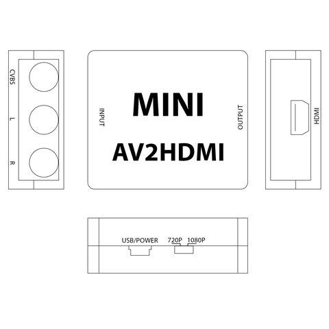 Конвертер видеосигнала CVBS в HDMI Превью 4