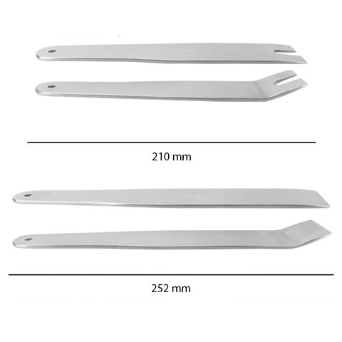 Набір інструментів для знімання обшивки (сталь, 4 предмети) Прев'ю 1