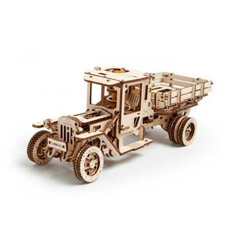 Rompecabezas mecánico 3D UGEARS juego 2 en 1: UGM-11 Camión + Juego de accesorios
