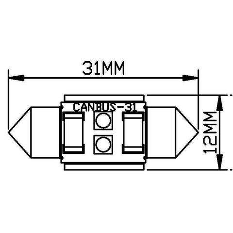 Car Interior LED Lamp UP-SJ-N2-3030-31MM (white, 12-14 V) Preview 1