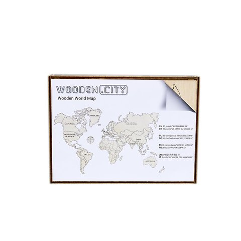 Wooden 3D Puzzle Wooden.City World Map L Preview 4
